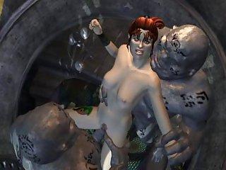 Бесплатное порно видео 3д-порно мация -монстры